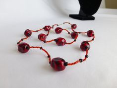 Repurposed Chunky Vintage Red Stone and by DonkeyandTheUnicorn, $20.00