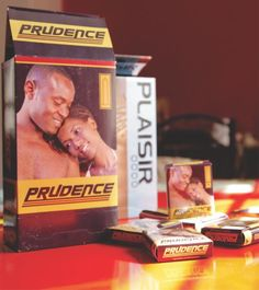 Prudence and Plaisir- SFH's two condom brands that are distributed to be sold to promote protected sex in Rwanda
