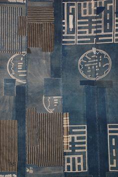 Japanese Embroidery Sashiko - shop for antique asian art and textiles, including extraordinary antique Boro cloths Shibori, Textile Design, Textile Art, Fabric Design, Kimono Design, Design Design, Japanese Textiles, Japanese Art, Boro Stitching