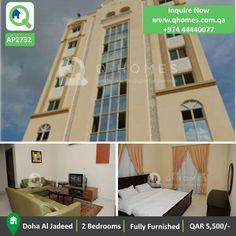 Apartment for Rent in Qatat: Fully Furnished 2 Bedrooms Apartment in Doha Jadeed at QAR 5,500/- (parking slot is not available)