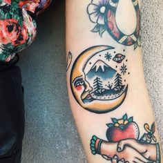 "1,827 Likes, 33 Comments - Alexis (@disintegrationxvx) on Instagram: ""Little moon on the side of elbow for Shay ! """