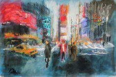 "Saatchi Online Artist: Javier Montesol; Painting, 2013, Digital ""Times Square.New York"""