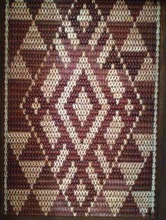 Tukutuku Panel, Apumoana Bead Loom Patterns, Doily Patterns, Weaving Patterns, Finger Weaving, Hand Weaving, Samoan Patterns, Flax Weaving, International Craft, Polynesian Art