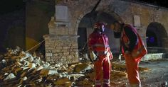 """ROME -- A pair of """"apocalyptic"""" aftershocks shook central Italy on Wednesday, crumbling buildings, knocking out power and sending panicked residents into the rain-drenched streets just two months after a powerful earthquake killed nearly 300 people. But hours after the temblors hit, there were no reports of serious injuries or signs of people trapped in rubble, said the head of Italy's civil protection agency, Fabrizio Curcio. A handful of people were treated for slight injuries or anxiety…"""