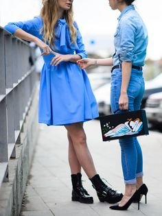 fashionable BFFs. #MariaKolosova & #OksanaOn in Tbilisi.