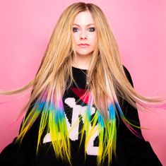 Pop Punk, Avril Lavigne Style, Avril Levigne, The Best Damn Thing, Punk Princess, Under My Skin, Young Female, Rainbow Hair, Female Singers