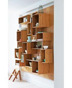 bamboo kitchen shelves