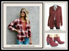 3668afb2b6e Lace Up Deep V Neck Oversized Red Plaid Top