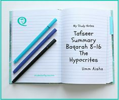 Tafseer Baqarah The hypocrites, put together by Umm Aisha, a Student of the Quran. Allah (SWT) describes the third group of people in these ayahs Quran In English, Noble Quran, Quran Translation, Study Journal, Islamic Teachings, Creating A Business, Study Notes, Arabic Words, Study Materials
