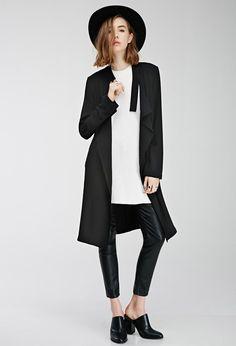 fec974d32256c D-Ring Collar Coat - Jackets   Coats - 2000080125 - Forever 21 UK F21