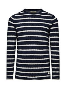 STRIPED PULLOVER, Dress Blues