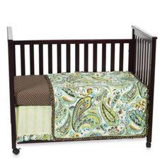 My Baby Sam Paisley Splash 3-Piece Crib Bedding Set in Lime - buybuyBaby.com