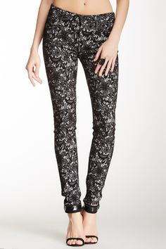 Love the look of lace pants like these. Pair them with either a stiletto or a black boot for a fashionable fall look :) Gwenevere Luxe Lace Twill Jean