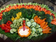 Turkey themed veggie platter!