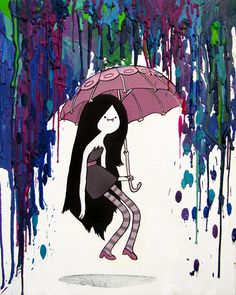 Marceline Adventure Time Inspired Art Print - Daddy's Little Monster - Marcy - Vampire Queen - Crayon Art - Melted on Etsy, Adventure Time Quotes, Adventure Time Marceline, Adveture Time, Daddys Little Monster, Vampire Queen, Jake The Dogs, Crayon Art, Melting Crayons, Cool Art