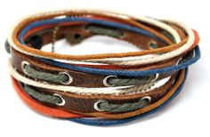 LOVE THIS ONE TOO! Leather Bracelet Wristband Mens Womens dd4. $8.00, via Etsy.