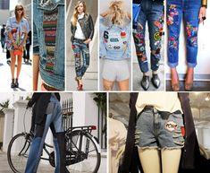 O Jeans do Verão 2017 – Patch e patchwork viram febre no street style. Veja fotos com tendências e ideias de customização