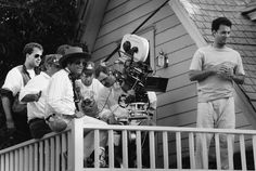 Tom Hanks and director Joe Dante film a scene for one of the more underrated dark comedies of the Small Soldiers, The Howling, The 'burbs, Movie Sites, Tom Hanks, Gremlins, Macabre, Behind The Scenes, Comedy