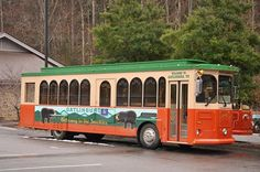 The Trolley is a great way of transportation throughout Gatlinburg.