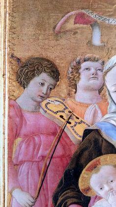Domenico di Bartolo - Madonna dell'umiltà, dettaglio - 1433 - Siena, Pinacoteca Nazionale