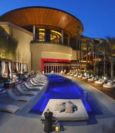 Red Rock Casino Resort, Vegas.  4 acre pool, off the strip, pizza fiore and veal milenneasse