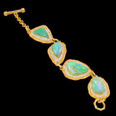 Victor Velyan Opal and Diamond Bracelet