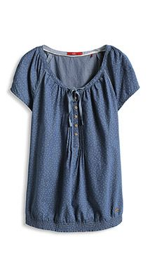 carmen blouse in lightweight denim
