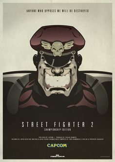 A Little Bit On The Retro Video Game Poster Side - Street Fighter 2: Championship Edition