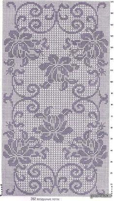 Filet Crochet Charts, Crochet Cross, Crochet Diagram, Knitting Charts, Thread Crochet, Crochet Granny, Irish Crochet, Crochet Motif, Crochet Doilies