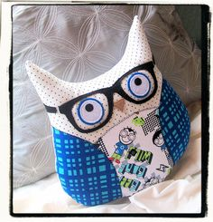 Hipster Owl with Glasses by MyLittleFeather