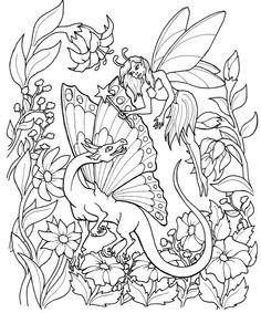 Fantastical Fairies Coloring Book