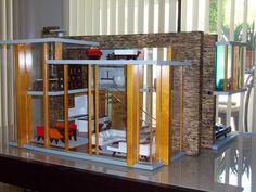 BRINCA DADA EMERSON WOOD DOLL HOUSE FURNITURE LIGHTS UP MID CENTURY MODERN BUILT | eBay