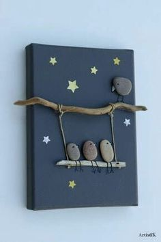 nature crafts for kids ; easy nature crafts for kids ; nature crafts for kids preschool ; nature crafts for kids summer ; nature arts and crafts for kids Kids Crafts, Crafts To Make, Easy Crafts, Modern Crafts, Family Crafts, Diy Home Crafts, Stone Crafts, Rock Crafts, Arts And Crafts