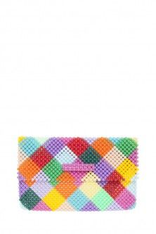 charlotte harlequin clutch by DEL DUCA. Available in-store and on Boutique1.com