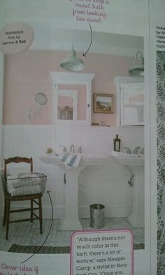 Pink done right. Middleton Pink by Farrow & Ball.