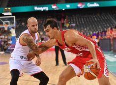 Vojvoda David of Hungary vies with Sarik Dario of Croatia during the FIBA Eurobasket 2017 mens Group C basketball match between Hungary and Croatia...