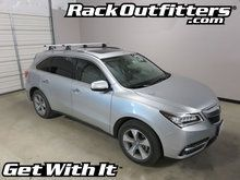 Acura MDX Thule Rapid Podium SILVER AeroBlade Roof Rack System '14-16