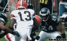GIF O' THE WEEK  Nothing makes me happier than a PAIR of GOTWs that involve the same play. Thank you Trent Richardson. I'm sorry Kurt Coleman.