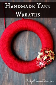 How To Make A Handmade Yarn Wreath