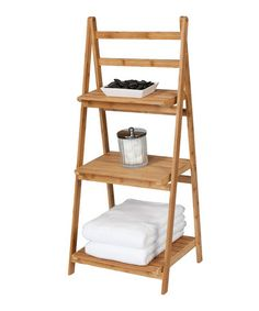 Folding Bathroom Tower by Creative Ware Home #zulily #zulilyfinds I so need this !!!!!!!!!!! Kids bath!