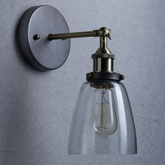 Lightess Apliques de Pared Lámpara Vintage Lámpara Industrial Apliques con Pantalla Lámpara de Pared Elegante Luz Lámpara Retra Lámpara de Estilo Rústico, Blanco Cálido: Amazon.es: Iluminación