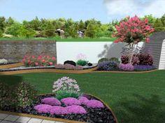 Residenza privata Trieste Progettazione giardino 3D con corten