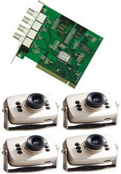 steam1 : CCTV System consist of 1 DVR card & 4 mini camera price, review and buy in Egypt, Amman, Zarqa | Souq.com