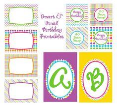 free b-day printables