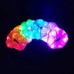 LED Light Up Scrunchies, School Spirit Scrunchies, Glow in the Dark Party Scrunchie, Stash Scrunchie School Spirit Days, Glow In Dark Party, Neon Birthday, Birthday Snacks, Birthday Parties, Neon Party, Spa Party, School Parties, Teen Parties