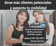 Obtén el máximo de LinkedIn para atraer: clientes potenciales, oportunidades de exposición en eventos y contactos de negocios. Podemos apoyarte a optimizar tu perfil y enseñarte a sacarle el mayor partido a esta poderosa herramienta. Para más inf. contáctanos.