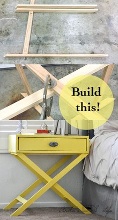 How to build an X-base nightstand with Free Plans!