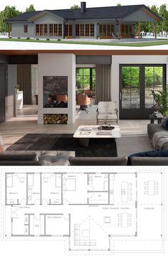 Home Plans, House Plans, Floor Plans Barn House Plans, New House Plans, Dream House Plans, Modern House Plans, Small House Plans, House Floor Plans, Modular Home Plans, Sims House Design, Bungalow House Design