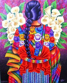 By Pedro Arnoldo Cruz Sunu. For my new house! Mexican Artwork, Mexican Paintings, Mexican Folk Art, Guatemalan Art, Hispanic Art, Arte Fashion, Latino Art, Mexican Heritage, Mexico Art