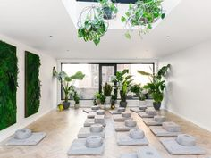 How a Vertical Garden Can Improve Your Health - MNDFL's Upper East Side meditation studio. Yoga Studio Design, Yoga Studio Interior, Yoga Studio Decor, Yoga Room Design, Studio Studio, Studio Spaces, Studio Ideas, Room Interior, Upper East Side